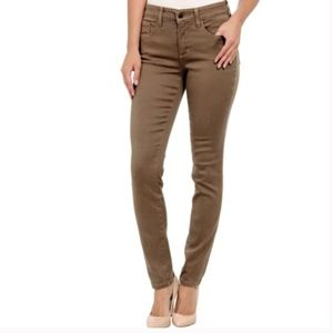 NYDJ Bruleee Brown Slim-Leg Legging Jeans 12P